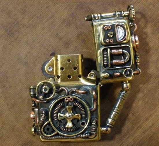 "Les Zippo ""Steampunk"" (custom) 015"